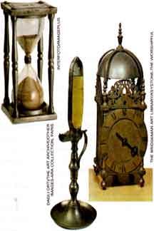 calendários e relógios