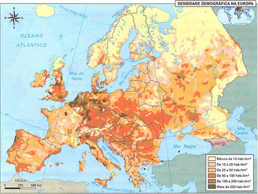 Características da População Europeia